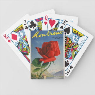 Vintage Travel Montreux Switzerland Bicycle Playing Cards