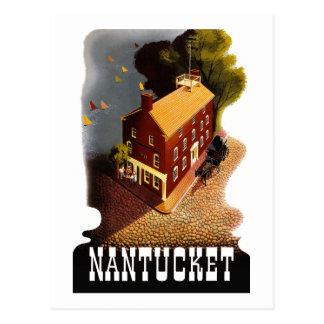 Vintage Travel Nantucket Massachusetts MA :: Postcard
