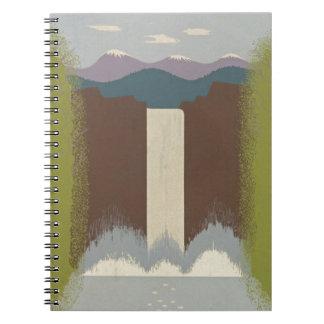 Vintage Travel National Parks Spiral Notebook
