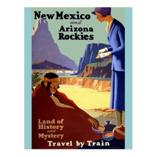 Vintage Travel - New Mexico and Arizona Rockies Post Card