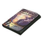 Vintage Travel, Norway Fjord Land of Midnight Sun Leather Wallets