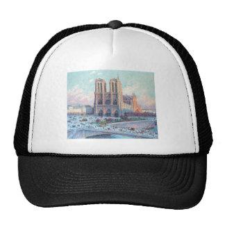 Vintage Travel Notre Dame de Paris Trucker Hat