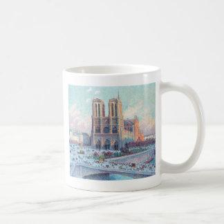 Vintage Travel Notre Dame de Paris Mugs