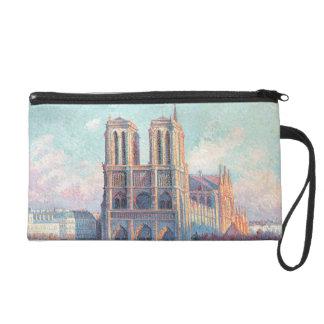 Vintage Travel Notre Dame de Paris Wristlet Clutch