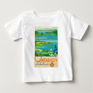 Vintage Travel Ontario Canada Baby T-Shirt