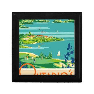 Vintage Travel Ontario Canada Gift Box