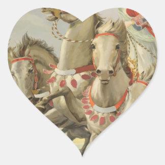 Vintage Travel Osaka Japan Heart Sticker