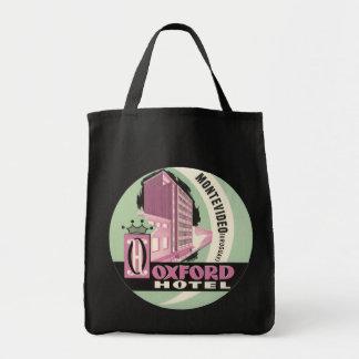 Vintage Travel, Oxford Hotel, Montevideo, Uruguay Grocery Tote Bag