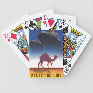 Vintage Travel Palestine Line Ship Bicycle Playing Cards