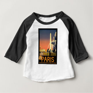 Vintage Travel Paris France Baby T-Shirt