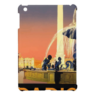 Vintage Travel Paris France iPad Mini Covers