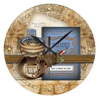 Vintage Travel Personalized Clocks