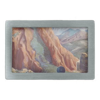 Vintage Travel Peru Belt Buckles