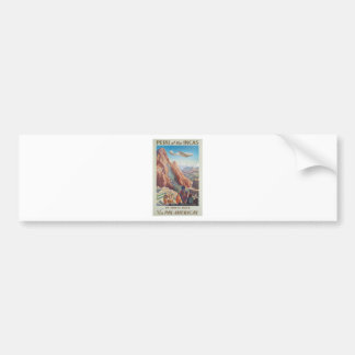 Vintage Travel Peru Bumper Sticker