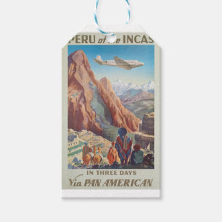 Vintage Travel Peru Gift Tags
