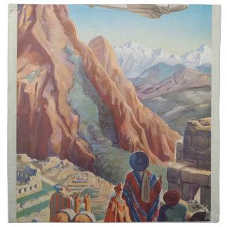 Vintage Travel Peru Napkin