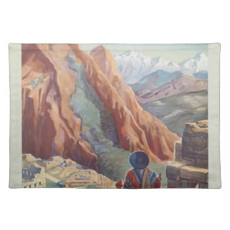 Vintage Travel Peru Placemat