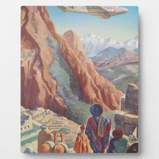 Vintage Travel Peru Plaque
