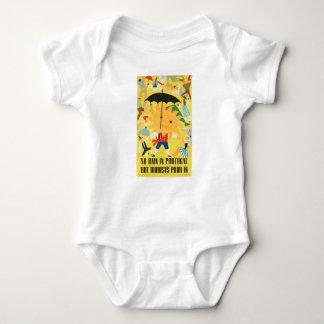 Vintage Travel Portugal Baby Bodysuit