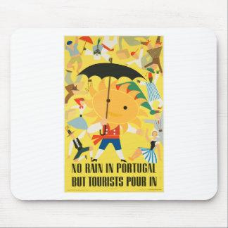 Vintage Travel Portugal Mouse Pad