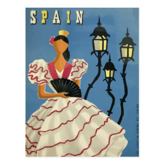 Vintage travel postcard poster Spain