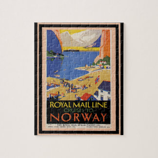 Vintage Travel Poster 34 Jigsaw Puzzle