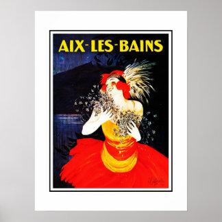 Vintage Travel Poster Aix Les Bains