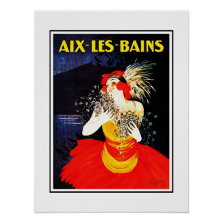 Vintage Travel Poster Aix Les Bains Print