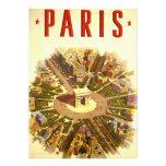Vintage Travel Poster Arc de Triomphe Paris France Invitations