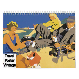 Vintage Travel Poster Art Calendar