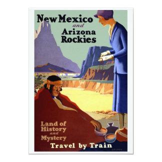 Vintage Travel Poster Art - New Mexico and Arizona 13 Cm X 18 Cm Invitation Card