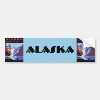 Vintage Travel Poster, Atlin and the Yukon, Alaska Bumper Sticker