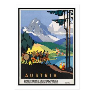 Vintage Travel Poster,Austria Postcard