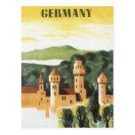 Vintage Travel Poster, Bavaria Castle, Germany Postcards