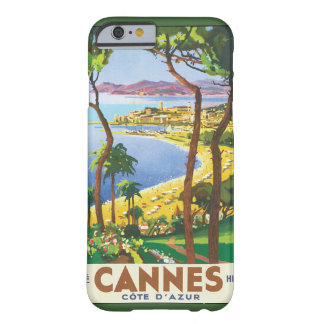 Vintage Travel Poster, Beach in Cannes, France Barely There iPhone 6 Case