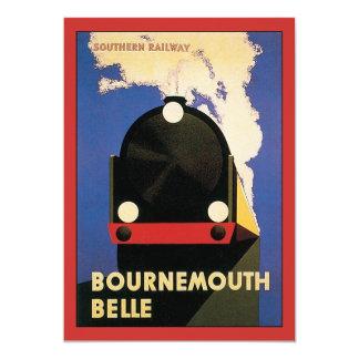 Vintage Travel Poster, Bournemouth Belle Train Card