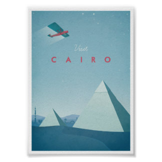 Vintage Travel Poster Cairo