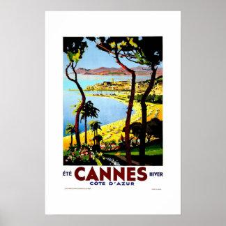 Vintage Travel Poster Cannes France