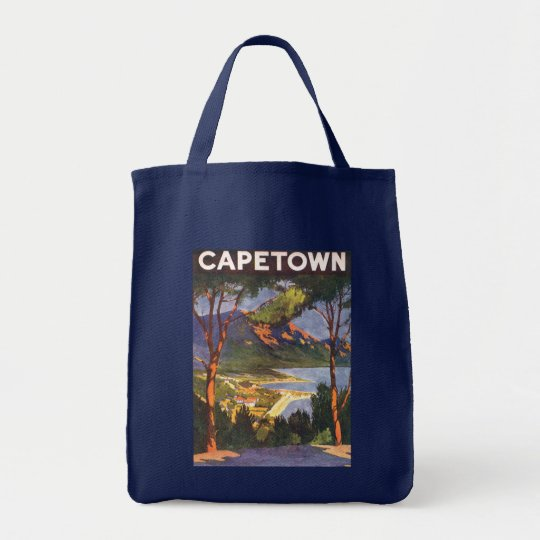 Vintage Travel Poster, Cape Town, South Africa Tote Bag