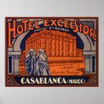 Vintage Travel Poster, Casablanca, Morocco, Africa Poster