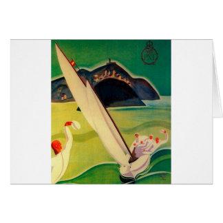 Vintage Travel Poster Donostia San Sebastian Card