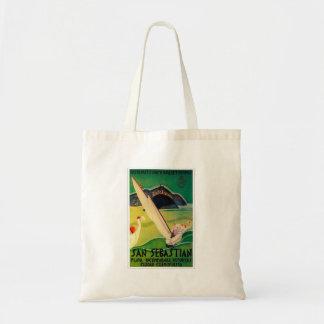 Vintage Travel Poster Donostia San Sebastian Tote Bag