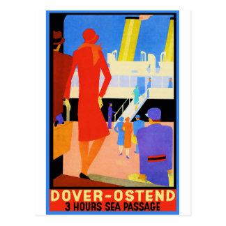 Vintage Travel Poster: Dover Ostend Postcard
