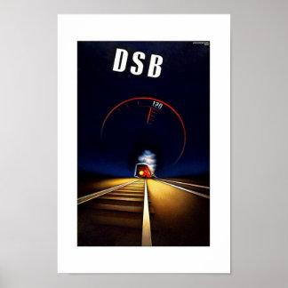 Vintage Travel Poster DSB Poster