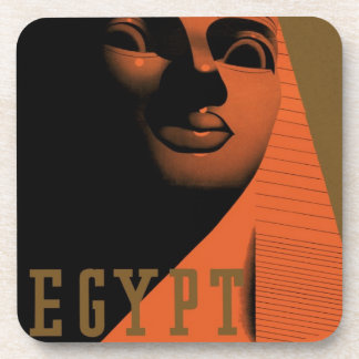 Vintage Travel Poster, Egypt, Africa with Sphinx Coaster