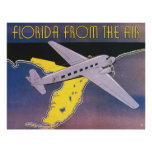 Vintage Travel Poster, Florida from Air Aeroplane