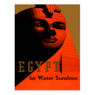 Vintage Travel Poster For Egypt Postcard