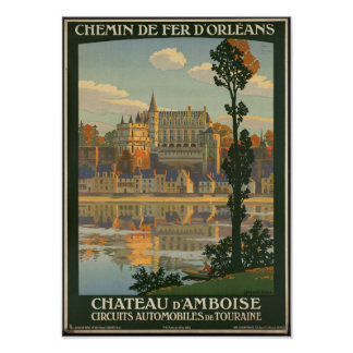 Vintage Travel Poster for the Chateau d'Amboise