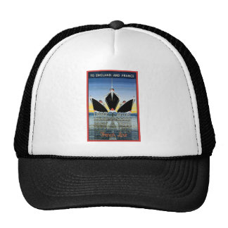 Vintage Travel Poster: French Line Cap