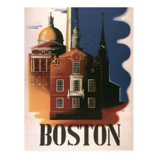 Vintage Travel Poster from Boston, Massachusetts Postcard